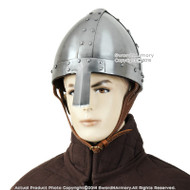 Functional Battle Ready Spangenhelm Helmet Norman Nasal Helm Medieval Knight  16G Steel SCA