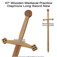 "45"" Wooden Medieval Practice Claymore Long Sword"