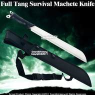 Full Tang Jungle Survival Machete Sword Knife W/ Sheath