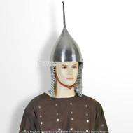 Functional Medieval Russian Tsar Helmet 16 Gauge Steel w/ Chainmail SCA LARP WMA