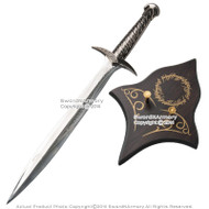 "26"" Sting Look Fantasy Sword Dagger with Wooden Display Plaque Movie Replica"