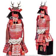 "17"" Japanese Warloard Sanada Yukimura Shogun Samurai Suit of Armor Miniature"