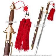 "30"" Blade Functional Tai Chi Sword Martial Arts Practice w/ Hardwood Handle Scab"
