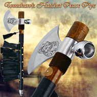 Tomahawk Hatchet Native Indian Chief Axe Functional Smoking Tabacco Peace Pipe