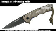Mastiff Titanium Coated 7CR17MOV Steel Blade Assisted Opening Tactical Folder GY