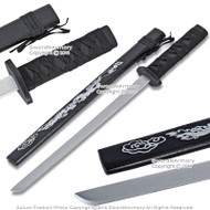 "21"" Black Wooden Samurai Katana Sword with Dragon Scabbard Cosplay Video Game"