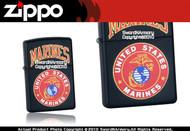 US Marine USMC Black Zippo Lighter Brand New 218-539
