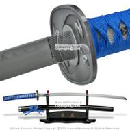 Champloo Jin Anime Katana Fantasy Samurai Sword Cosplay Blue Wrapping
