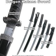 Black Classic Japanese Samurai Katana Sword Set Sword
