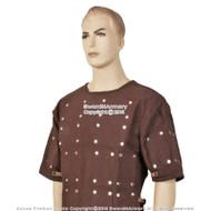 Renaissance Brigandine Medieval Steel Plated Armor Overcoat SCA LARP Black or  Brown