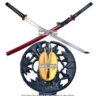 Musashi Brand Handmade Samurai Katana Sword 1060 Differential Harden Steel Sharp