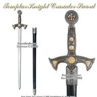 "38"" Medieval 12th Century Templar Knight Crusader Sword"