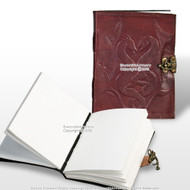 Medieval Renaissance Double Dragon Leather Handmade Journal Diary Notepad w/Lock