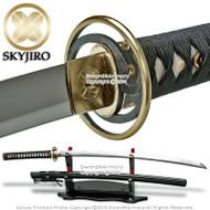 Skyjiro Domoe Commas Handmade Functional 1075 Steel Samurai Katana Sword Sharp without stand