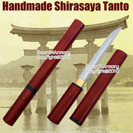 Shirasaya Tanto Handmade Japanese Samurai Sword Sharp 1