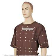 2XL Brown Renaissance Brigandine Medieval Steel Plated Armor Overcoat SCA LARP