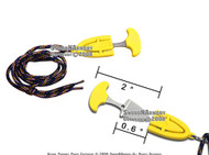 Yellow Necklace Hunting Push Knife With Safety Lock