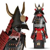 """15.5"""" High Kuroda Clan Shogun Japanese Samurai Armor Miniature Statue"""