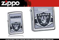 Oakland Raiders Chrome Zippo Lighter Brand New 24625
