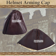 Synthetic Leather Medieval Arming Cap Helmet Padding