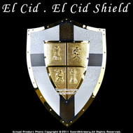 Medieval El Cid Shield Knight Armor Steel With Cross