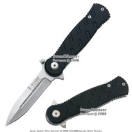 Spring Asissted Opening Tactical Pocket Folding Knife Straight Blade