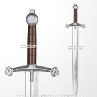 "41"" Medieval Scottish Claymore Sparkfoam Foam Sword w/ Chrome Blade LARP"