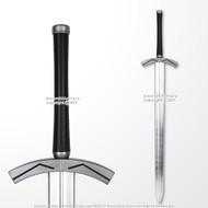 "42.5"" Medieval Foam Sword w/ Metallic Chrome Finish on Blade"