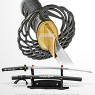 Hand Honed Samurai Katana Sword with Classic Crane Tsuba Sharp Blade