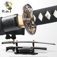 "Ryujin 40"" Handmade Samurai Katana Sword 5160 Spring Steel Blade Sharp"