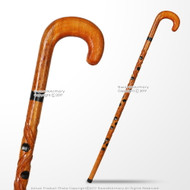 36' Handcrafted Lady Bug Eucalyptus Wooden Walking Stick Gentlemen's Cane