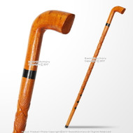 36'' Handcrafted Lady Bug Etched Design Eucalyptus Wooden Stick Walking Cane