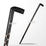 "36"" Handcrafted Eucalyptus Wooden Stick Gentlemen Walking Cane Sculptural Shaft"