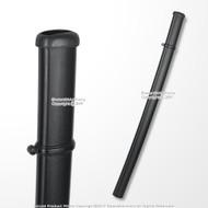 Black Plastics Scabbard Saya Sheath for SparkFoam Katana Sword LARP Cosplay