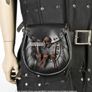 Medieval Renaissance Costume Genuine Leather Belt Pouch Nobles Larp Cosplay Reenactment