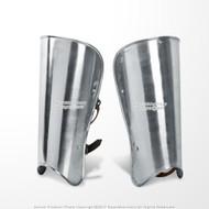 A Pair Medieval Steel Plate Armor Leg Greaves Set LARP Costume Cosplay