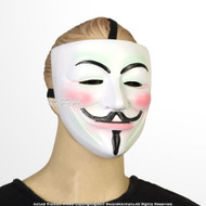 Wearable Guy Fawkes Anonymous V Mask with Strap  Halloween Costume Cosplay