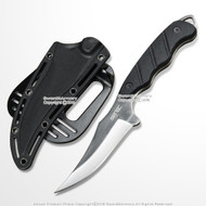 "9"" Fixed Blade Tactical Hunting Knife Blade with Paddle ABS Holster Sheath"