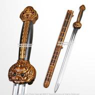 Qing Dynasty Qian Long Dragon Sword Handmade Chinese Emperor Jian Sharp Blade