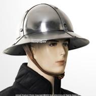 Functional Medieval Kettle Hat XIII Century Crusader Knight Infantry Helmet 16G