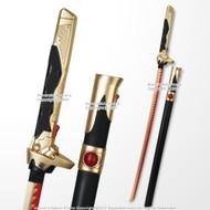 "41"" Genji Dragonblade Katana Gold Nihon Skin Overwatch Full Scale Fantasy Scabbard"