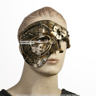 Gold Steampunk Phantom Masquerade Mask Wearable Cosplay Costume Events Prop