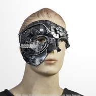 Chrome Steampunk Phantom Masquerade Mask Wearable Cosplay Costume Events Prop