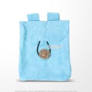 Medieval Light Blue Renaissance Fair Costume Suede Leather Pouch Satchel Bag LARP SCA
