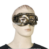 Gold Steampunk Phantom Masquerade Full Mask Cosplay Costume Events Prop
