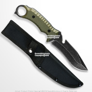 """10"""" Full Tang Fixed Blade Knife Stone Wash Finish Blade G10 Handle w/ Pouch"""