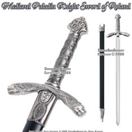 *SPECIAL* Medieval Paladin Crusader Knight Durendal Sword of Roland With Scabbard Engraved w/ VIRTUE
