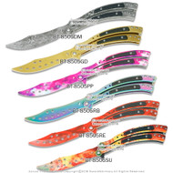 "CSGO Butterfly Trainer Training Balisong Practice Dull Knife 4"" Blunt Blade"