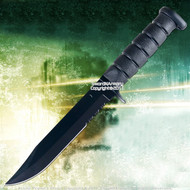 "11.5"" Marine Style Combat Knife Full Tang Blade Serrated"