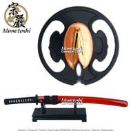 Munetoshi Haru Clay Tempered T10 Steel Samurai Wakizashi Sword with Choji Hamon